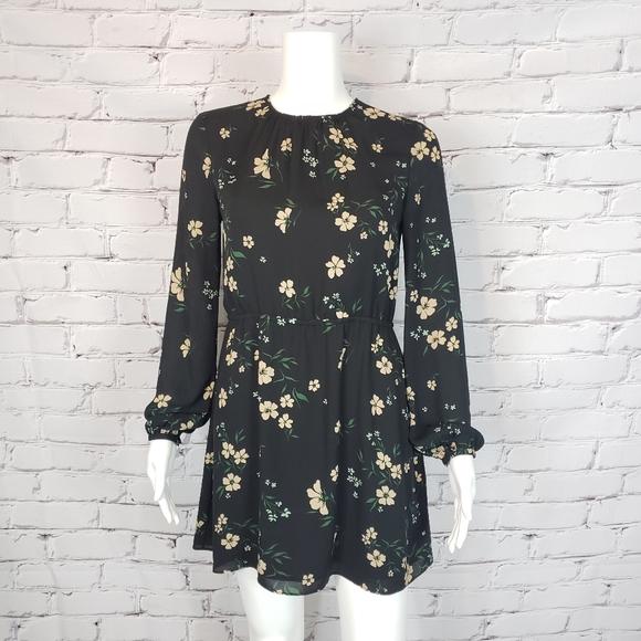 Sunday Best Black Floral Mini Dress